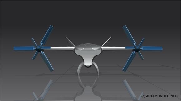 SKYNET - концепт беспилотного конвертоплана с гибридным приводом Артамонов